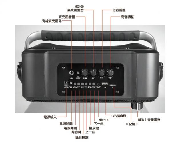EMMAS 移動式藍芽喇叭/教學無線麥克風 (T-68) 6