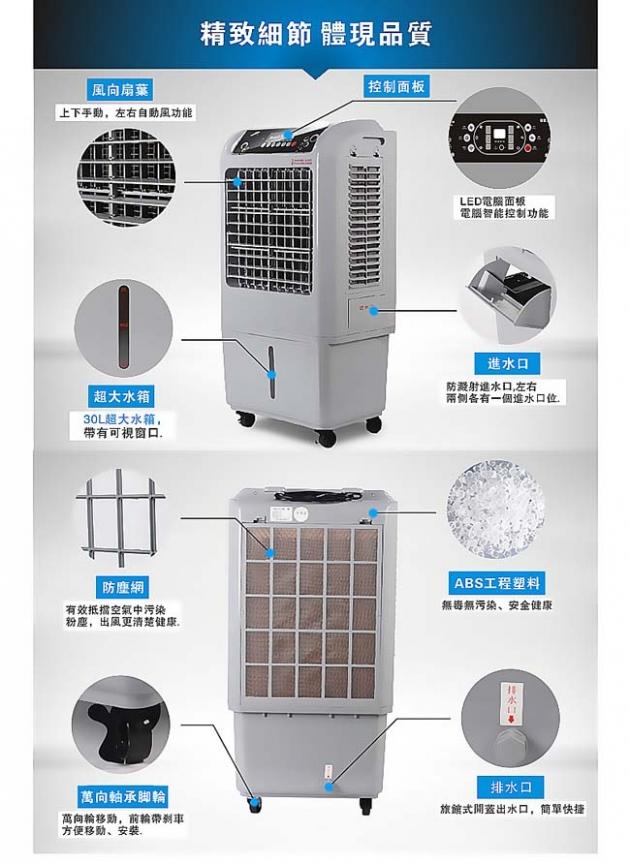 【EMMAS】負離子移動式空氣降溫水冷扇 (SY-158) 7