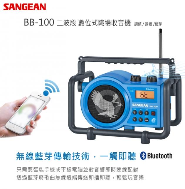 【SANGEAN】二波段 藍芽數位式職場收音機(BB-100) 5