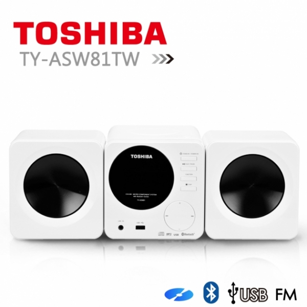 【TOSHIBA】福利品CD/MP3/USB/藍芽組合音響 (TY-ASW81TW) 1